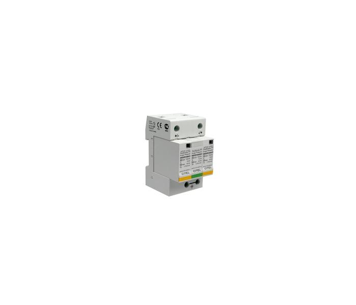 citel开发的din导轨光伏电源电涌保护器,采用mov(高能金属氧化物避雷
